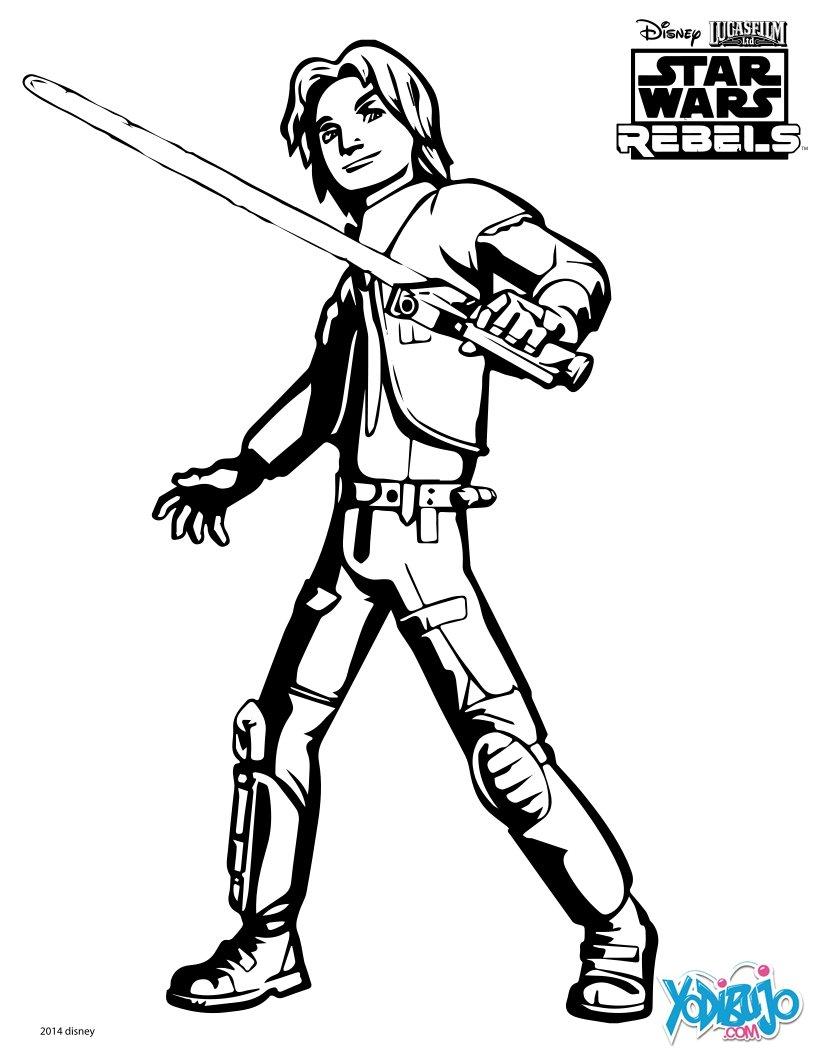 Dibujo para colorear : Ezra - Star Wars Rebels
