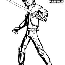 Dibujo para colorear : Ezra - Star Wars Rebels