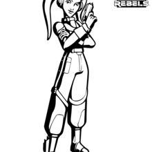 Dibujo para colorear : Hera - Star Wars Rebels