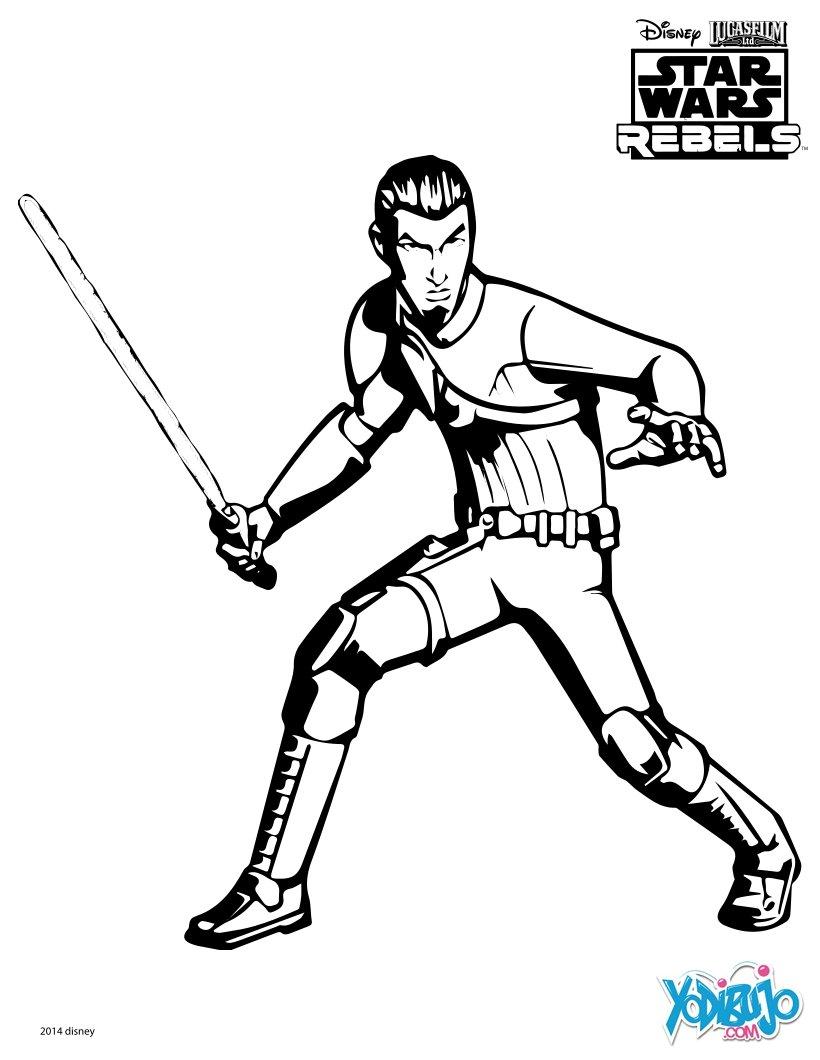 Dibujo para colorear : Kanan - Star Wars Rebels