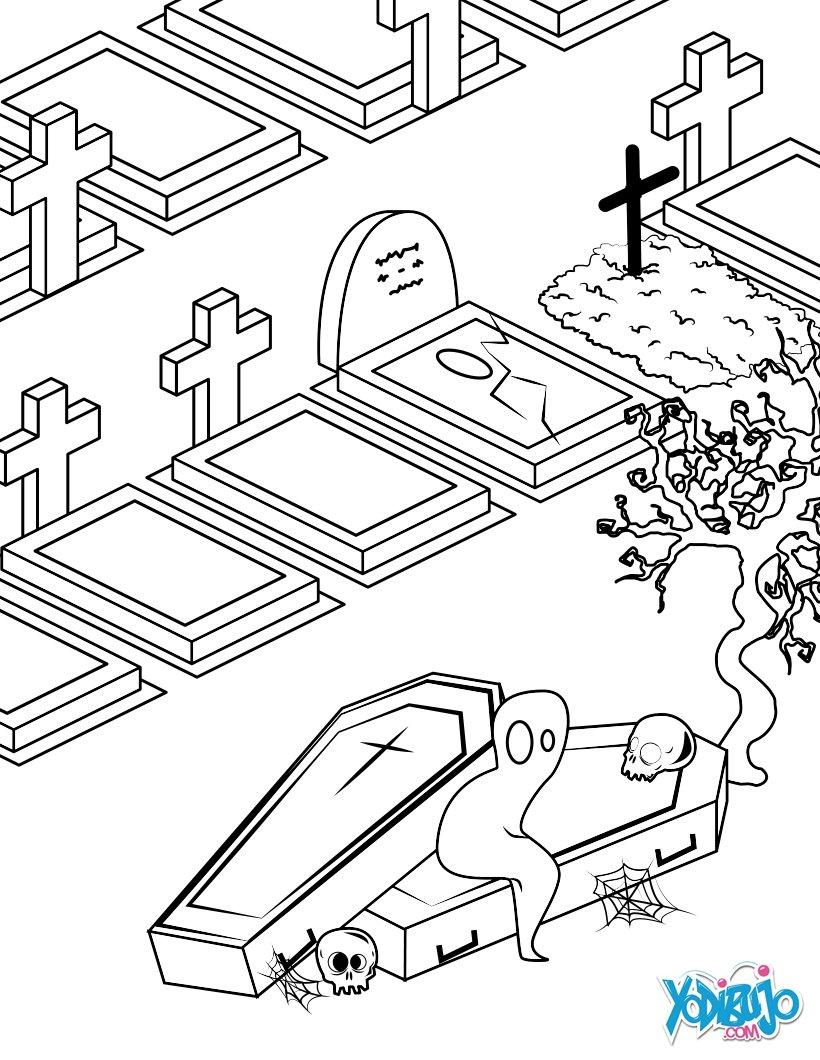 Dibujos para colorear el angel y el demonio de halloween - es ...