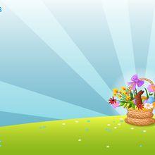 Fondo de pantalla : Cesta de huevos de chocolate