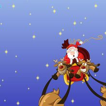 Gifs y fondo : El trineo de Santa Claus