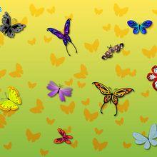 Gifs y fondo : Mariposas
