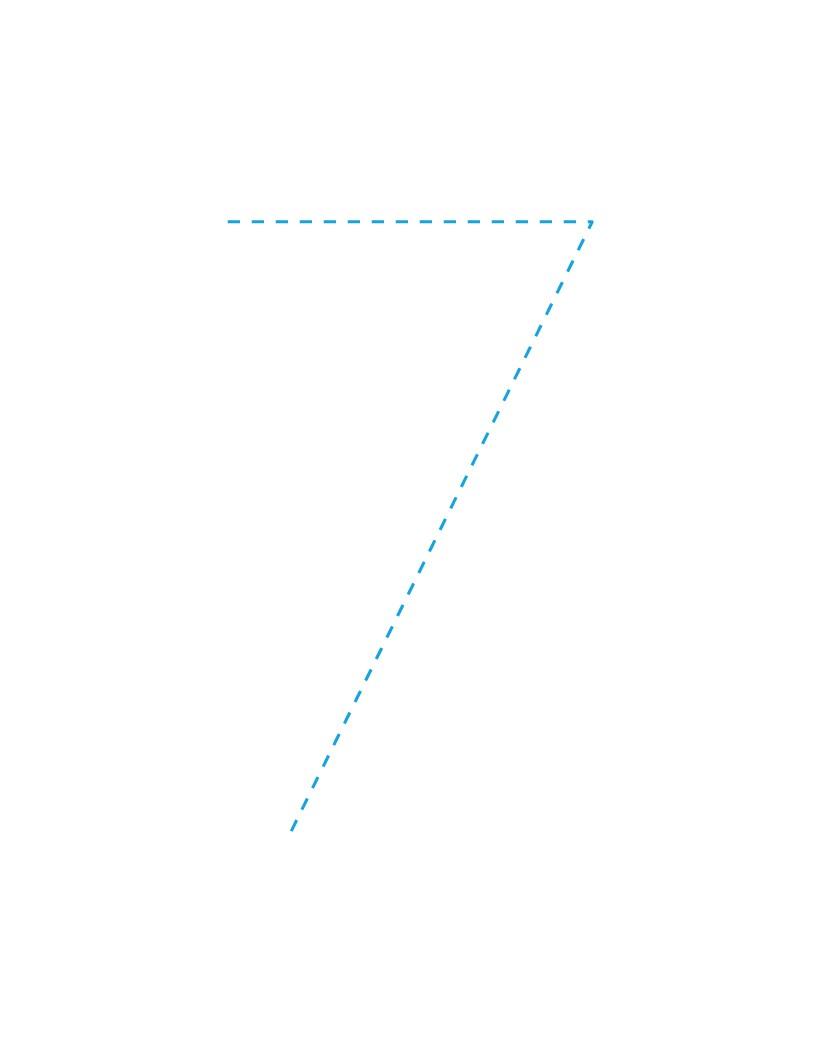 Aprender a escribir : El número 7