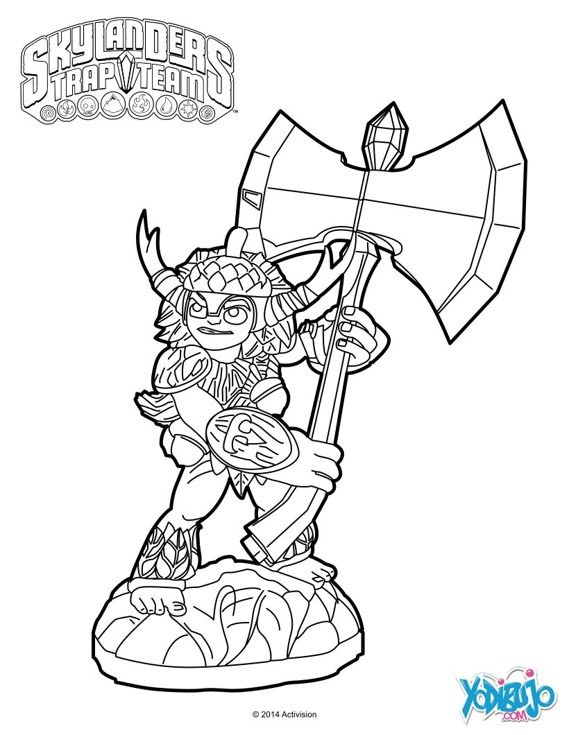Encantador Página Para Colorear De Skylander Molde - Dibujos Para ...