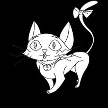 Halloween, Dibujos de Gato Negro para colorear