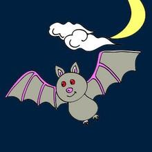 Halloween, Dibujos de Murciélagos para colorear