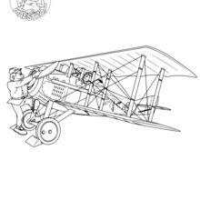 Dibujo para colorear : Los comienzos de la aviación