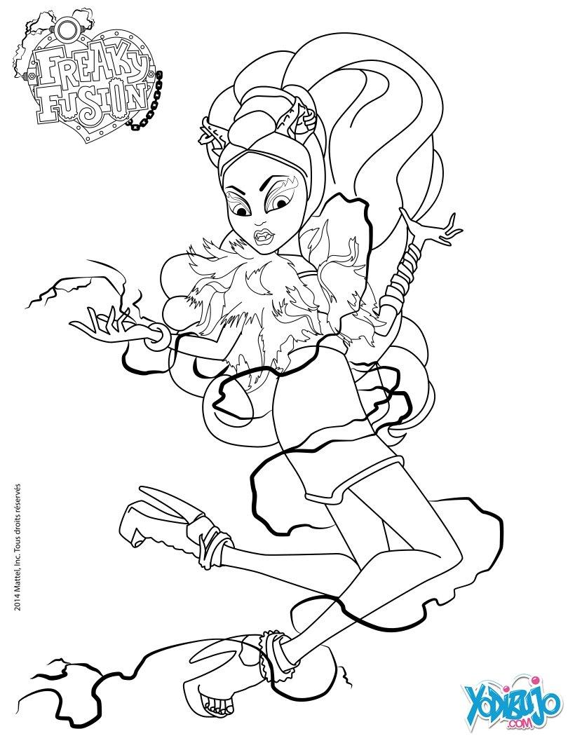 Dibujos para colorear draculaura monster high - es.hellokids.com