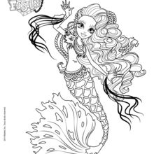 Dibujo para colorear : Monster High Freaky Fusion: Sirena Von Boo