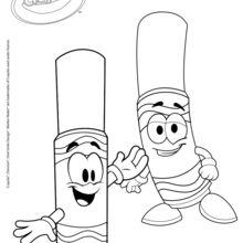 Dibujo para colorear : Colorear es divertido con Crayola