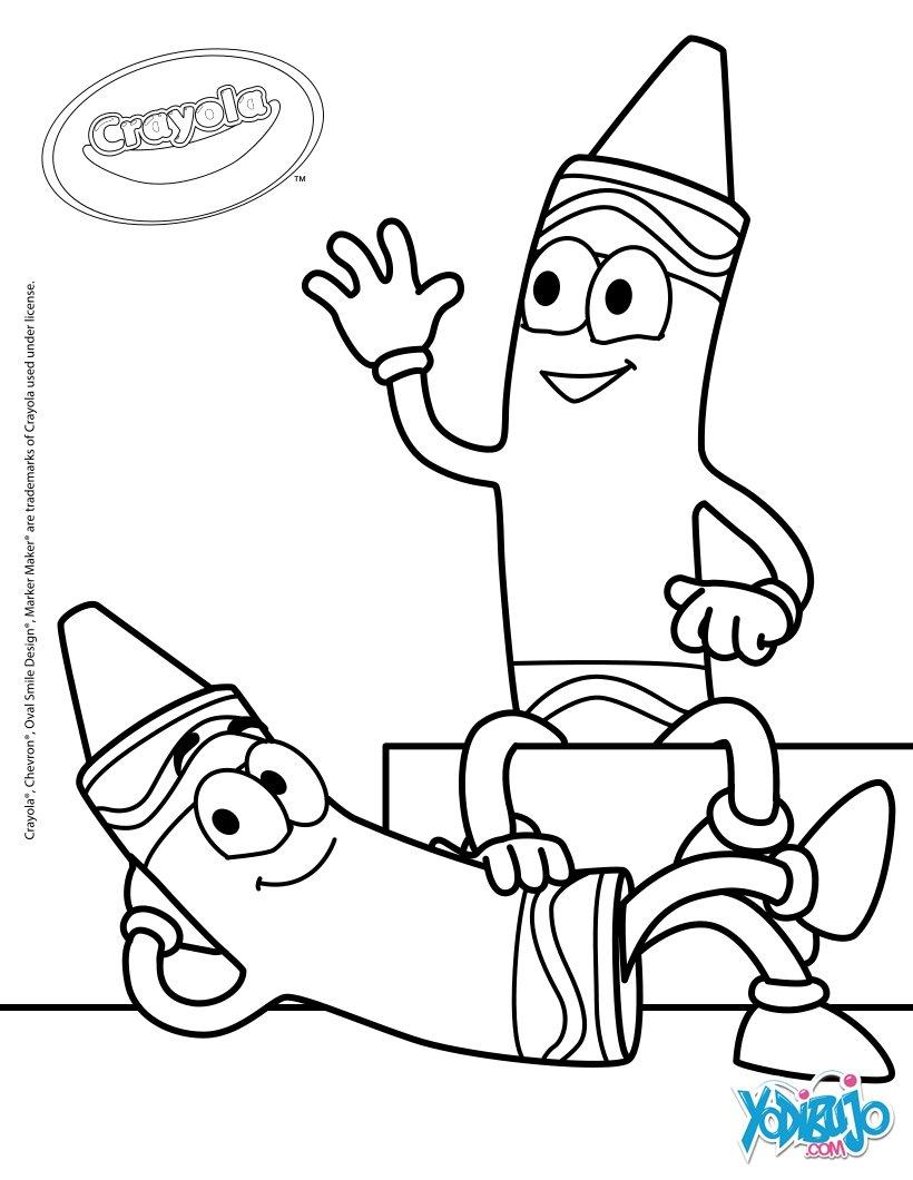 Dibujos para colorear crayones crayola - es.hellokids.com