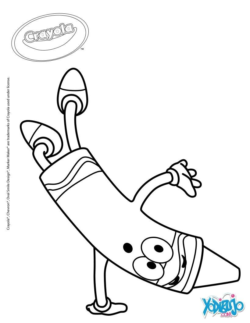 Dibujos Para Colorear Crayones Crayola Eshellokidscom