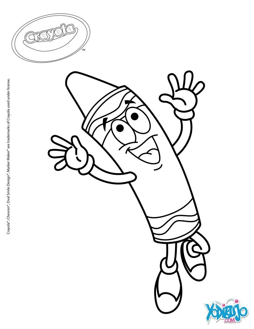 Dibujos para colorear divertido crayón crayola - es.hellokids.com