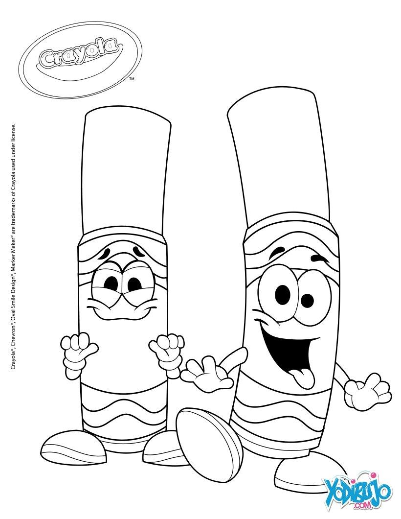 Dibujos para colorear crayola para pintar - es.hellokids.com