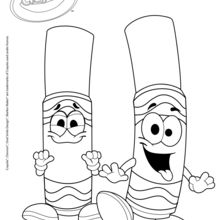 Dibujo para colorear : Plumoncitos Crayola