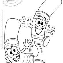 Dibujo para colorear : Plumones lavables Crayola