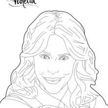 Dibujo para colorear : El beso de Violetta