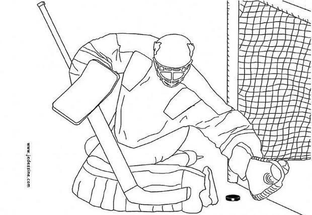 Dibujo para colorear : Jugador de hockey