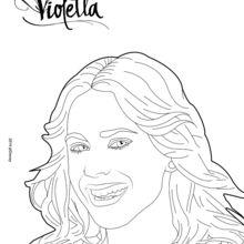Dibujo para colorear : La sonrisa de Violetta