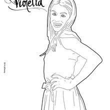 Dibujo para colorear : Sonrisa de Violetta