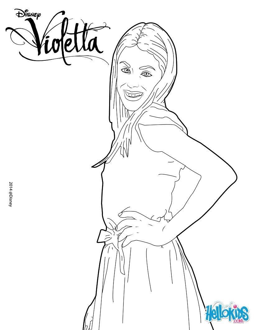 Violetta colorear - Imagui