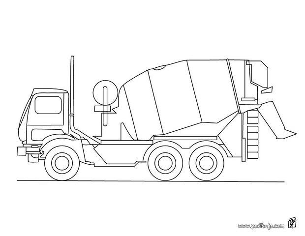 Dibujos para colorear un camión semirremolque - es.hellokids.com