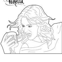 Dibujo para colorear : Violetta canta