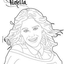 Dibujo para colorear : Violetta durante una sesión de fotos