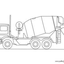 Dibujo para colorear : un camión hormigonero
