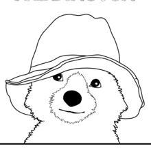 Dibujo para colorear : El oso Paddington