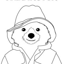 Dibujo para colorear : Retrato del oso Paddington