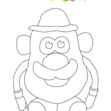 Dibujo para colorear : Mr Potato