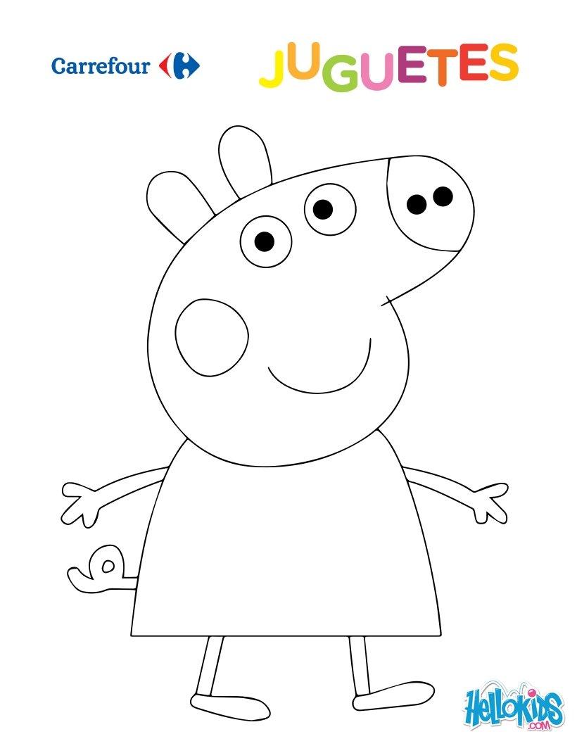 Dibujos para colorear peppa pig - es.hellokids.com
