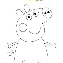 Dibujo para colorear : Peppa Pig