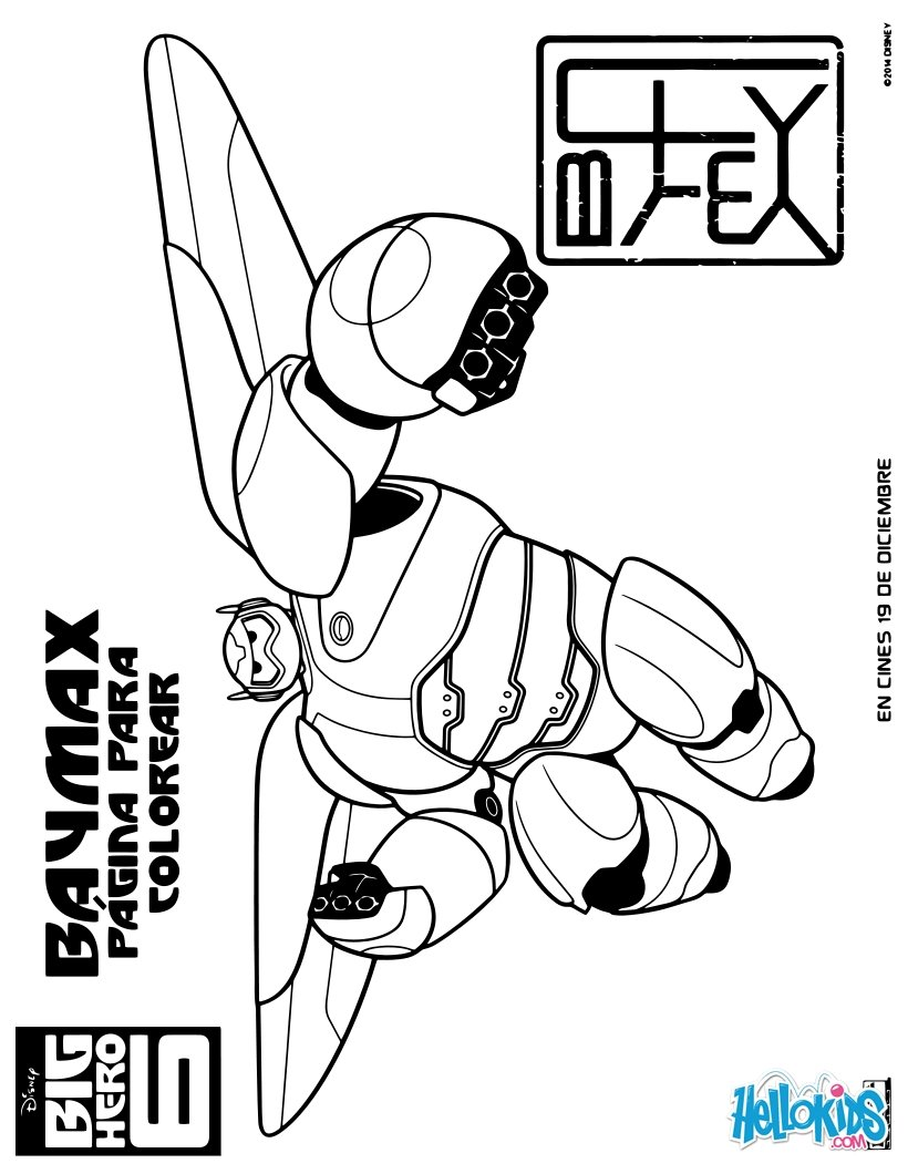 Dibujos para colorear baymax - es.hellokids.com