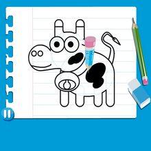 Consejo para dibujar : Dibujar una VACA
