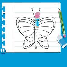 Consejo para dibujar : Dibujar una MARIPOSA