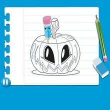 Consejo para dibujar : Dibujar una CALABAZA