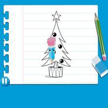 Consejo para dibujar : Dibujar un ÁRBOL DE NAVIDAD