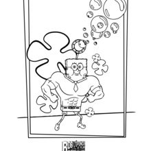 Dibujo para colorear : Bob Esponja: un héroe fuera del agua