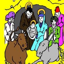 jesus, Dibujos para colorear de NAVIDAD NACIMIENTO