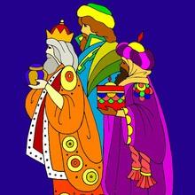 Dibujos para colorear de los REYES MAGOS