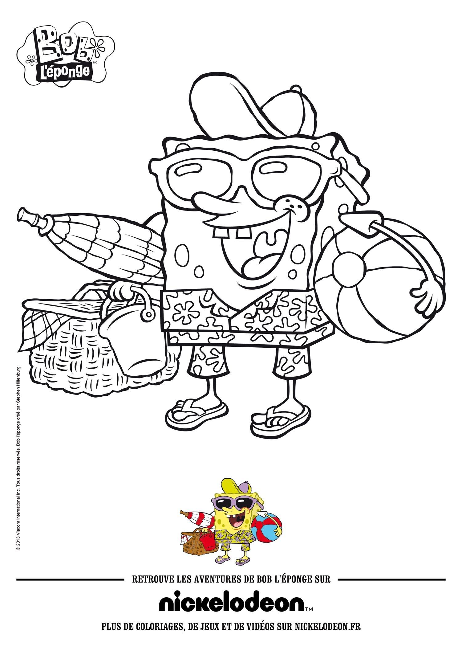 Dibujos para colorear bob esponja: la película - es.hellokids.com