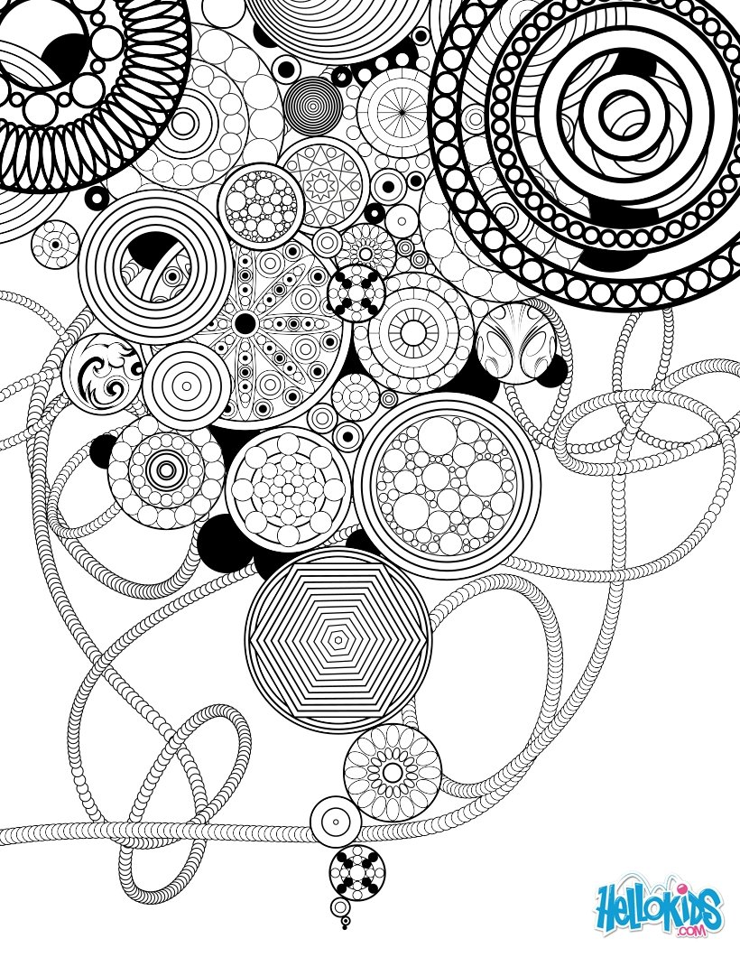 Dibujos para colorear mandala vintage - es.hellokids.com