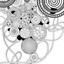 Dibujo para colorear : Círculos y rosetas