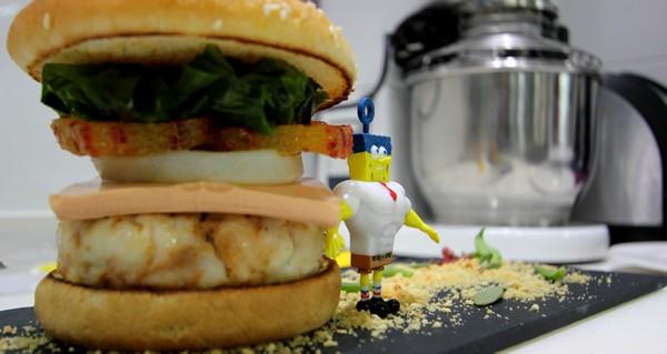 Cocinar con niños : Cocina tu Cangreburger con Bob Esponja