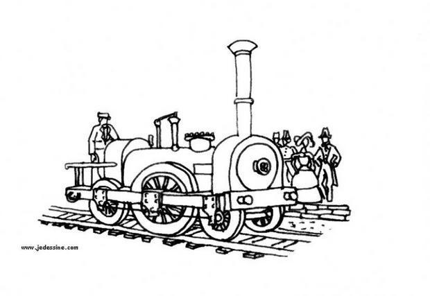 Dibujos para colorear locomotora - es.hellokids.com