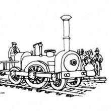 Dibujo para colorear : la locomotora